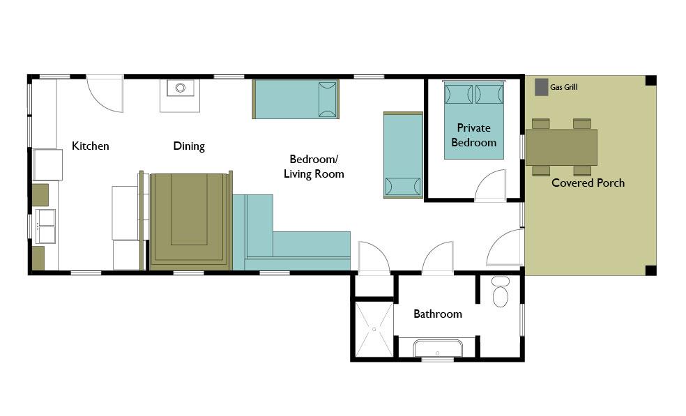 diagram of bunkhouse bunkhouse cabin corkins lodge chama  new mexico  bunkhouse cabin corkins lodge chama